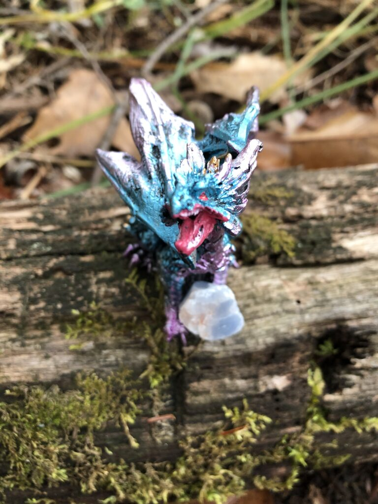 A greedy dragon hoards it's treasure